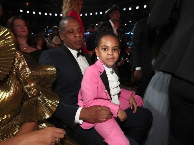 Jay-Z e Blue Ivy Carter  (Foto: AFP)