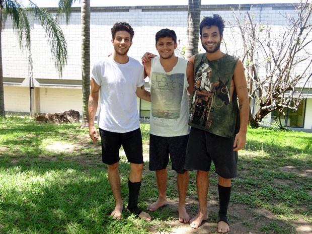 Chay, Bruno e Filipe (Foto: Hellen Couto/Gshow)