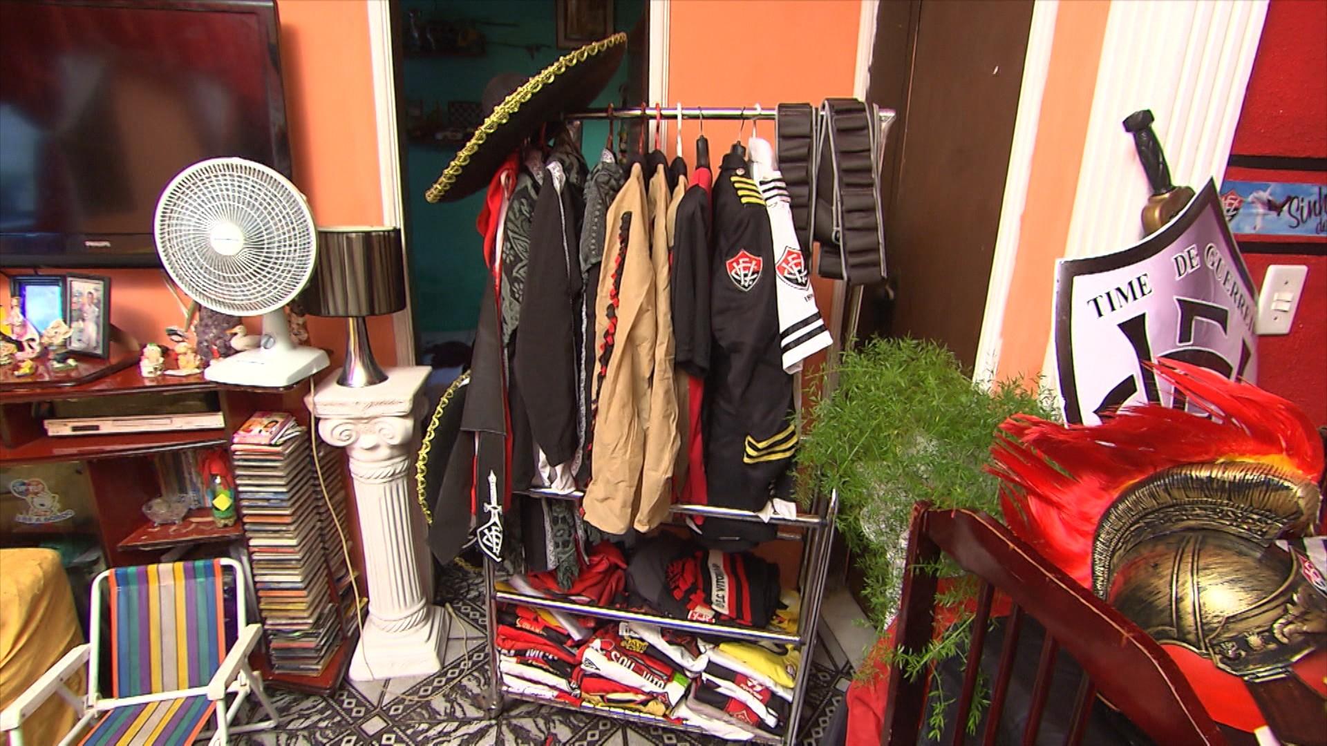 A casa do torcedor é cheia de itens do rubro-negro (Foto: Divulgação)