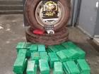 Polícia apreende pneus de caminhão 'recheados' com 120 kg de cocaína
