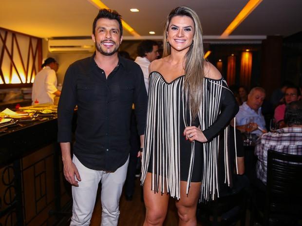Ceará e Mirella Santos em festa em São Paulo (Foto: Manuela Scarpa/ Brazil News)