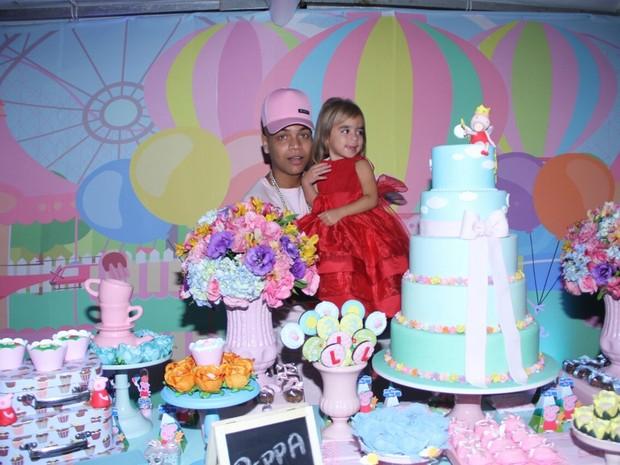 MC Duduzinho comemora o aniversário da filha mais velha, Lara Princess, em uma casa de festas em Vargem Grande, Zona Oeste do Rio (Foto: Henrique Souza/ CI Produções/ Divulgação)