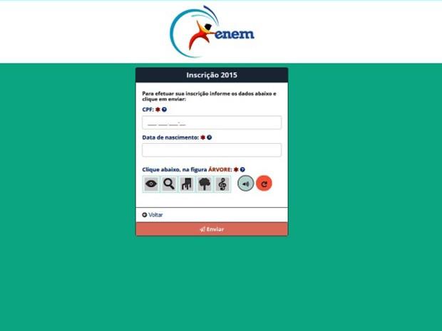 Prazo para inscrições no Enem 2015 vai até o dia 5 de junho (Foto: Reprodução/Inep)