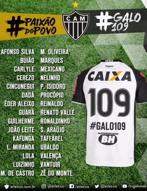Atlético-MG homenageará grandes jogadores que vestiram a camisa alvinegra  (Foto: Divulgação/ Atlético-MG)