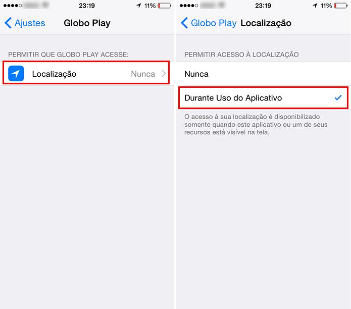 Permita que o app obtenha sua localização (Foto: Reprodução/Paulo Alves)