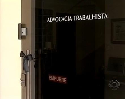 Advogado foi morto em escritório, em Lages (Foto: Reprodução/RBS TV)