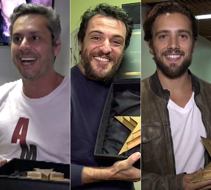 Alexandre Nero, Rafael Cardoso e Rodrigo Lombardi são os indicados na categoria Ator de Novela do Melhores do Ano (Foto: Gshow)