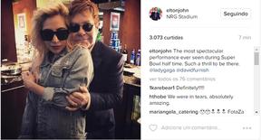 Lady Gaga e Elton John (Foto: Reprodução / Instagram)