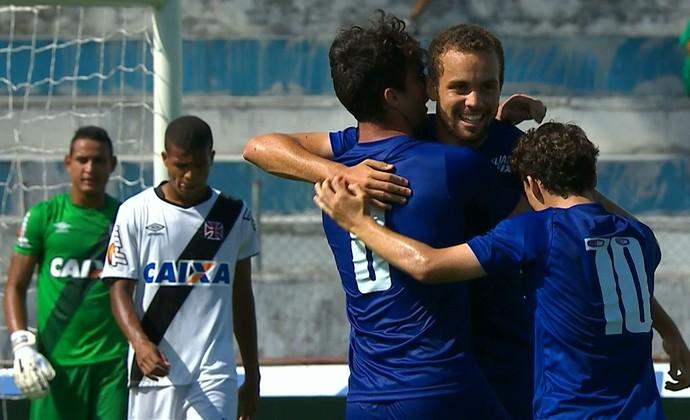 Hugo Ragelli comemora gol contra o Vasco pela Copa São Paulo (Foto: Reprodução \Sportv)