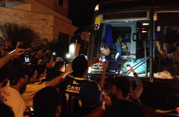 Palmeiras, desembarque em Vilhena (Foto: Felipe Zito)