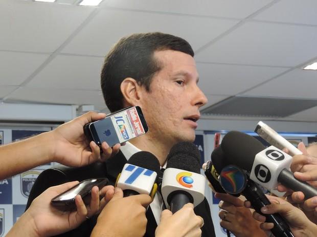 Delegado Guilherme Caraciolo (Foto: Moema França/G1)