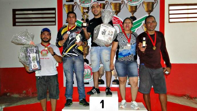 Naelton Maranhães foi o grande campeão da 2 etapa do Acreano de Kart Indoor (Foto: Divulgação/Clube Kart Acre)