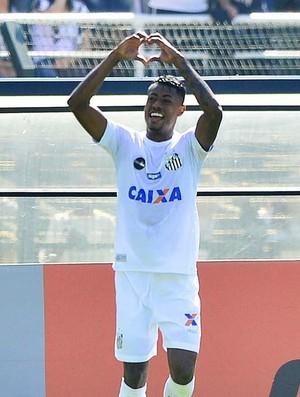Bruno Henrique comemora gol, Santos x Bahia (Foto: Marcos Ribolli)