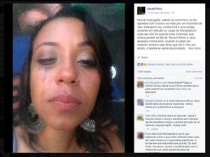 Cantora Aiace Félix fez post para falar sobre agressão sofrida em Salvador (Foto: Reprodução/Facebook)