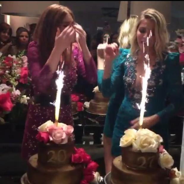 Marina Ruy Barbosa e Luma Costa cantam parabéns (Foto: reprodução/instagram)