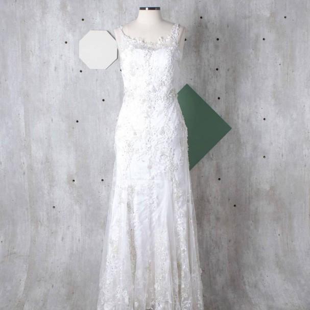 Vestido de noiva de Fiorella (Foto: Reprodução)