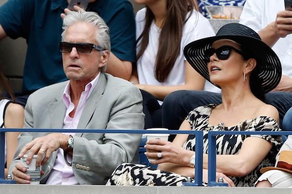 A atriz Catherine Zeta-Jones com o marido, o ator Michael Douglas (Foto: Getty Images)
