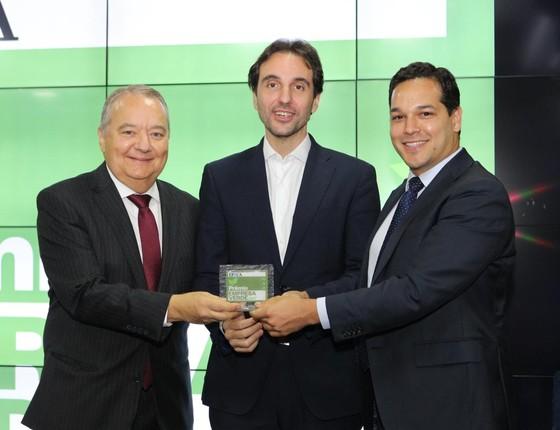 Fibria recebe o prêmio na categoria Mudanças Climáticas - Indústria (Foto: Rogério Cassimiro)