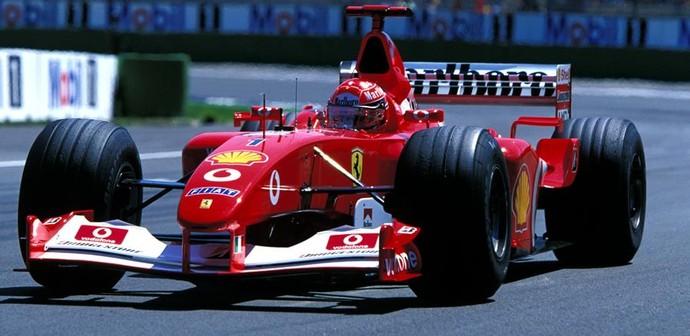 Michael Schumacher no GP da Itália de 2003 (Foto: Divulgação)