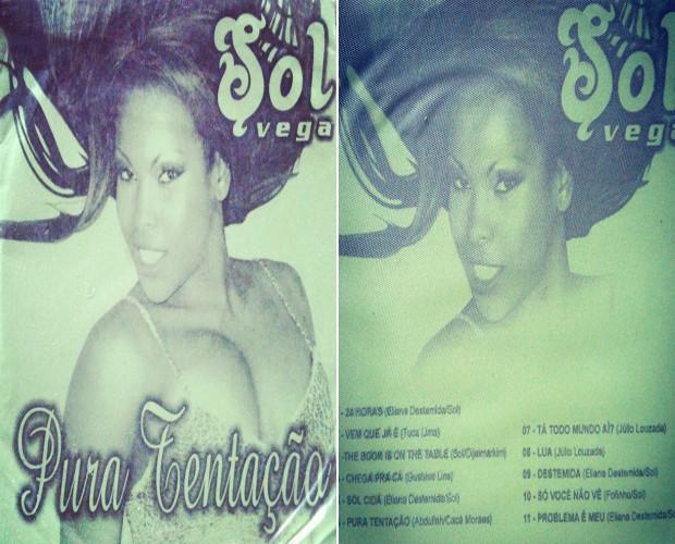 CD Pura Tentação tem música de Solange com a campeã do BBB4 Cida   (Foto: Arquivo pessoal)