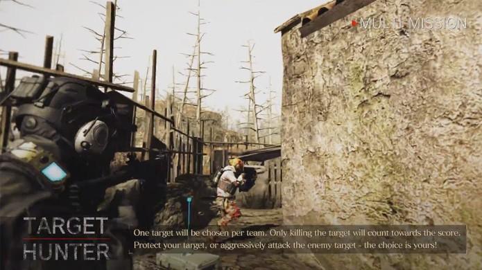 No modo Target Hunter de Umbrella Corps apenas um jogador inimigo conta pontos para o time ao ser eliminado (Foto: Reprodução/YouTube)