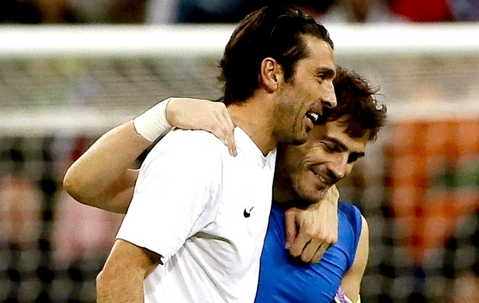 Buffon e Casillas goleiros jogo Juventus e Real Madrid (Foto: EFE)
