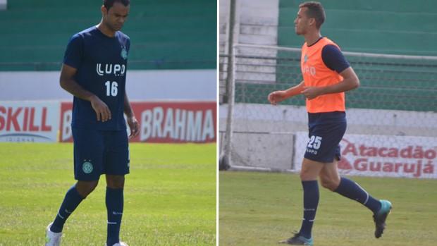 Júnior Negrão e Neto, jogadores do Guarani (Foto: Murilo Borges / Globoesporte.com)