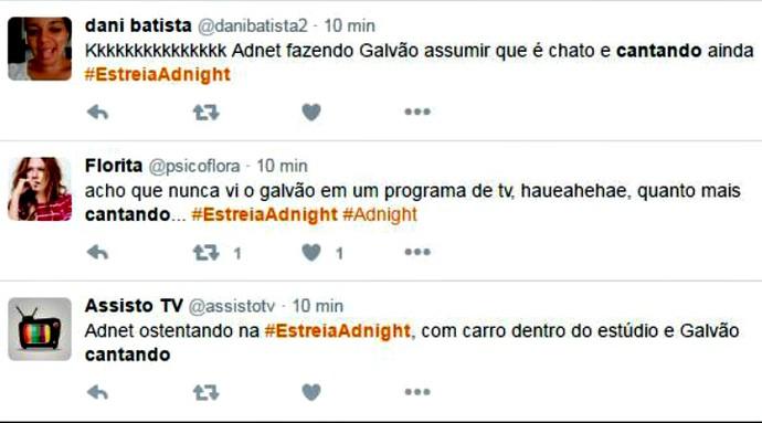 Galvão canta no Adnight (Foto: Gshow)
