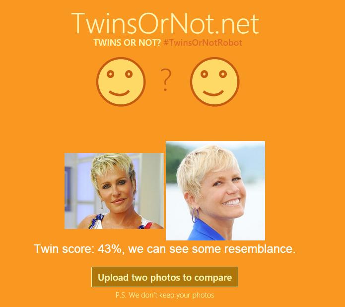Site da Microsoft analisa fotos e descobre quão parecidas são duas pessoas (Foto: Reprodução/Microsoft) (Foto: Site da Microsoft analisa fotos e descobre quão parecidas são duas pessoas (Foto: Reprodução/Microsoft))