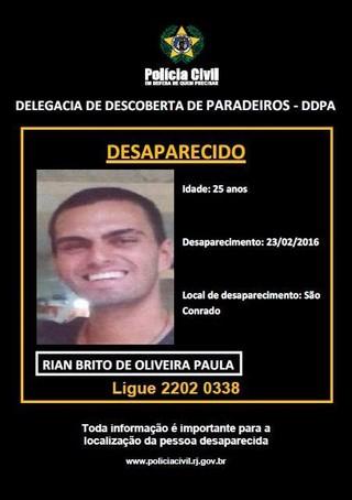 Nizo Neto fala sobre desaparecimento do filho (Foto: Reprodução/Facebook)