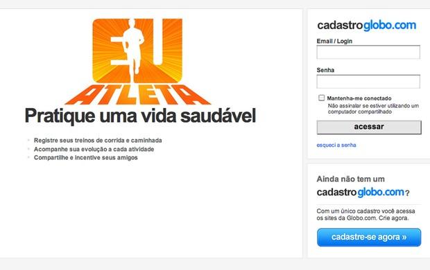 TELA CADUN EU ATLETA TUTORIAL (Foto: Globoesporte.com)