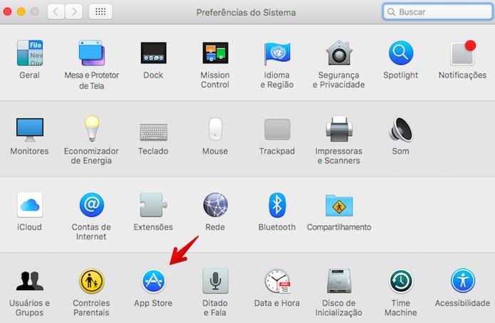 Abra as configurações da loja de aplicativos (Foto: Reprodução/Helito Bijora)