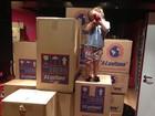Otaviano Costa posta foto da filha em meio a caixas da mudança