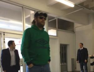 Rodrigo Rysdyk, conhecido como Alemão, prestou depoimento em Porto Alegre (Foto: Tatiana Lopes/GloboEsporte.com)