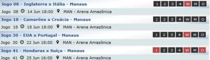 Ingressos Copa do Mundo em Manaus (Foto: GloboEsporte.com)