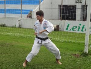 Bruno Assis, primeiro carateca na parceria entre Paysandu e as artes marciais (Foto: GLOBOESPORTE.COM)