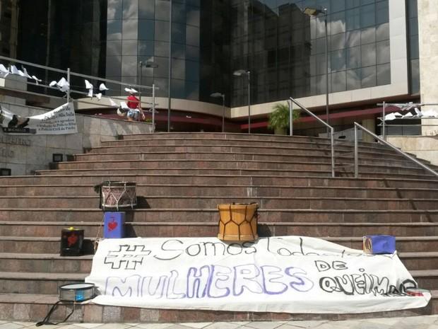 Julgamento do caso do estupro coletivo de Queimadas, em João Pessoa (Foto: Krystine Carneiro / G1)