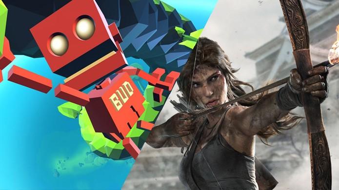 Mesmo com uma votação, a qual escolheu Grow Home (PS4), a melhor oferta foi na Games with Gold com Tomb Raider (XOne) (Foto: Reprodução/IGN e Xbox)