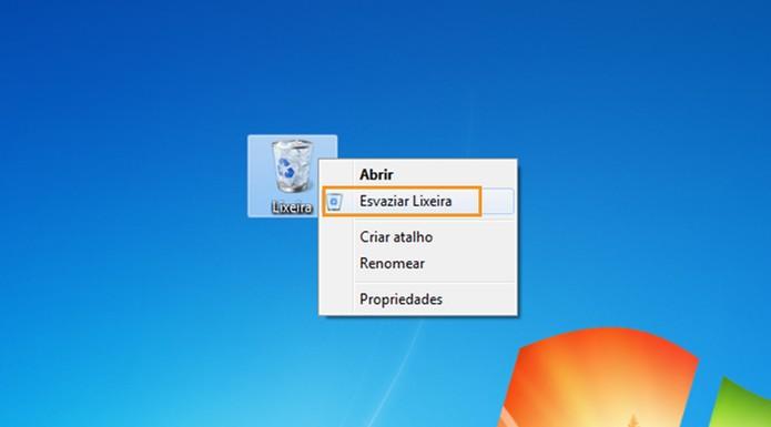 Exclua arquivos e esvazie a lixeira no computador (Foto: Reprodução/Barbara Mannara)