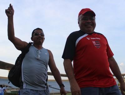 Elivado Moraes e Jankel Costa, Flamengo-PI (Foto: Emanuele Madeira/GLOBOESPORTE.COM)