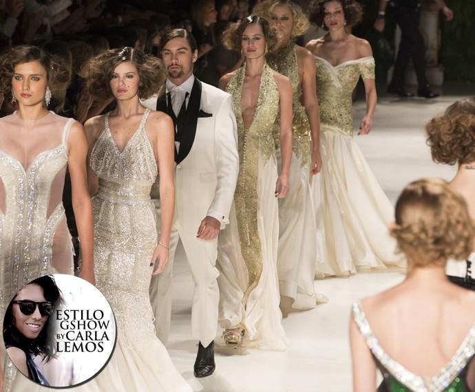 Samuel Cirnansck, um dos estilistas mais requisitados por noivas, foi responsável pelos vestidos de musas como Juliana Paes e Giovana Ewbank (Foto: Felipe Monteiro / Gshow)