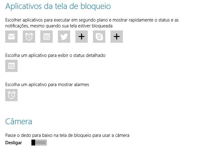 Usuário pode selecionar receber notificações na tela de bloqueio (Foto: Thiago Barros/Reprodução)