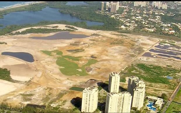 Campo de golfe agosto 2014 (Foto: Reprodução/TV Globo)
