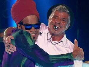 Brown e Lulu: parceria que dá certo! (Foto: Gshow)
