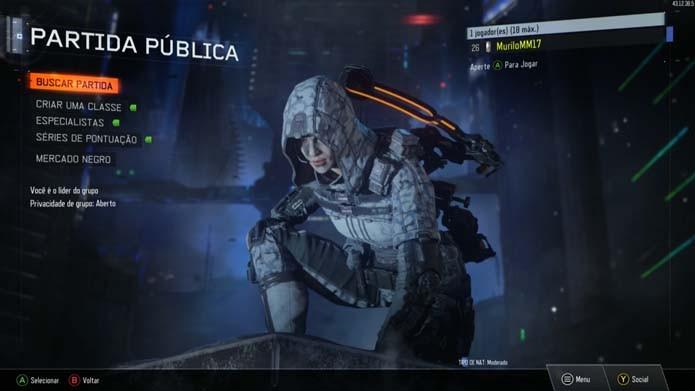 Aprenda a customizar seu perfil do multiplayer de Call of Duty: Black Ops 3 (Foto: Reprodução/Murilo Molina)
