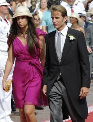 Tatiana Santo Domingo e Andrea Casiraghi no casamento do príncipe Alberto II de Mônaco, em 2 de julho de 2011 (Foto: AFP)
