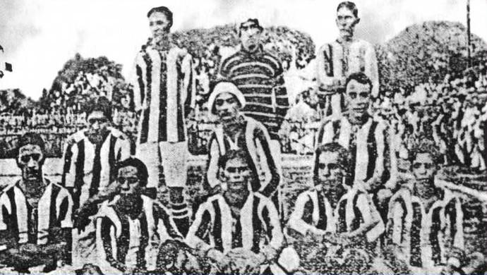 Primeiro time do Paysandu, em 1914 (Foto: Site do Clube)