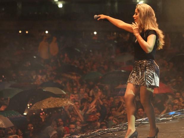 Banda Magníficos, no palco do São João da Capitá (Foto: Flávio Alves / G1)