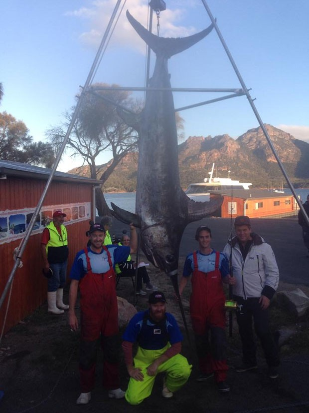 Kyle Longmore lutou durante seis horas com o enorme peixe (Foto: Reprodução/Facebook/Team Choonachasa)