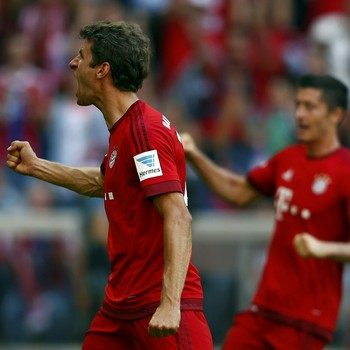 Thomas Muller - Augsburg x Bayern de Munique (Foto: Reuters)